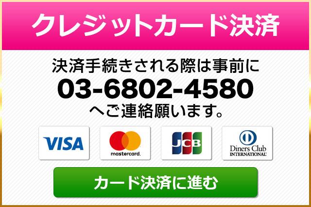 クレジットカード決済のご案内